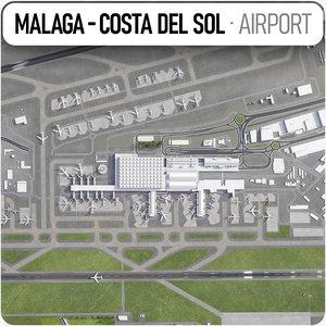 malaga - costa del sol 3D