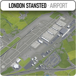 london stansted airport - model