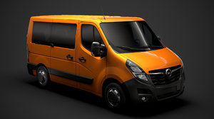 3D opel movano l1h1 windowvan model