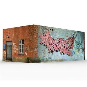 3D old slum house 3