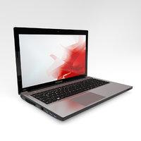 3D laptop model