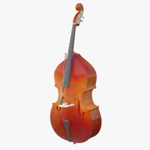 3D double bass model
