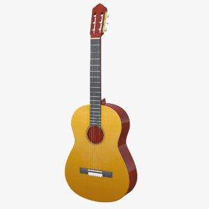 3D model instruments guitar