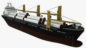 3D cargo vessel warnow jupiter