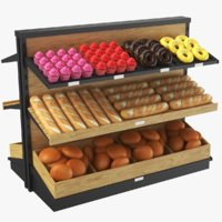 3D real bakery display model