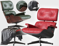 eames lounge chair vitra 3D