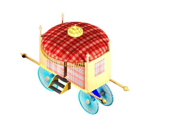 princess carriage 3D model