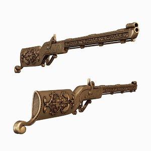 rifle firearm gun 3D