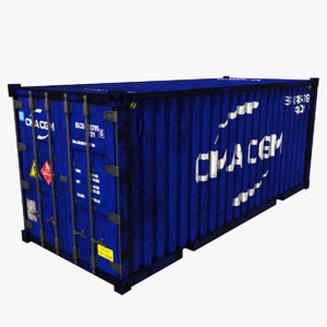 shipping container teu cma 3D model