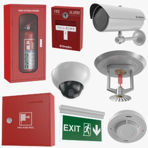 equipment extinguisher box 3D model