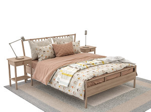 ikea bjrksns bed riggad model
