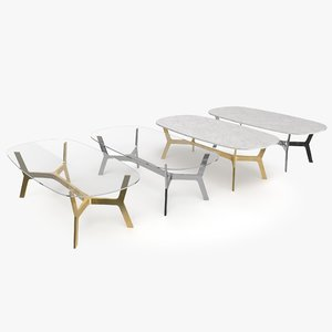 elke rectangular coffee table 3D model
