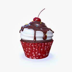 3D cupcake candy topping model