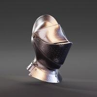 Medieval Knight Armet Helmet (3)