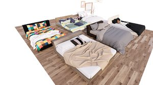 6 beds model