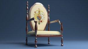 3D king throne 5 model