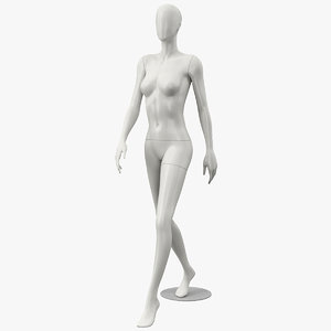 3D female mannequin model