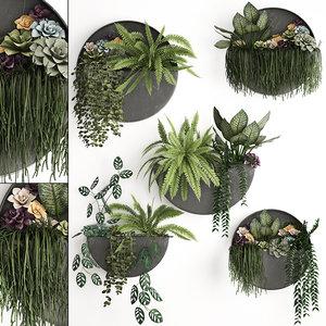 3D vertical garden green wall
