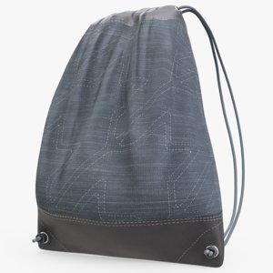 3D drawstring bag model