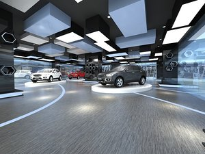 car showroom 3D