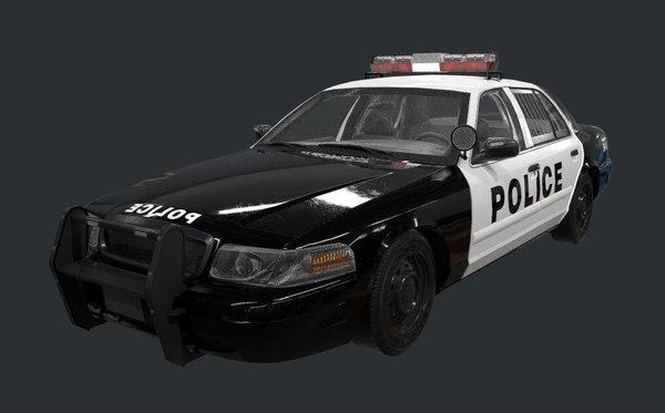 police car ready 3D