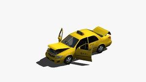 taxi cab 3D model