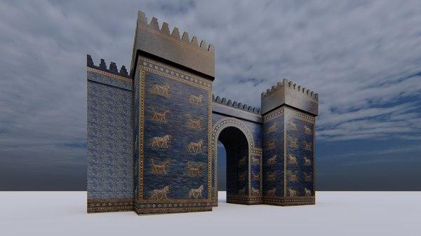 3D ishtar gate