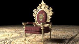 3D king throne 6