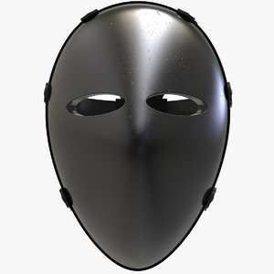 ballistic bulletproof mask 3D model