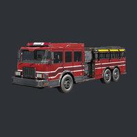 truck ready engine 3D model
