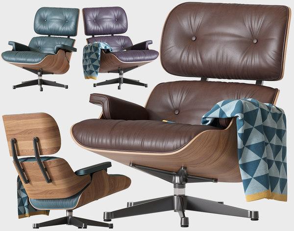 3D model chair eames lounge