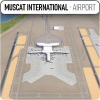 muscat international airport 3D model