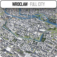 3D wroclaw surrounding -
