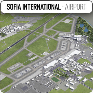 3D sofia international airport -