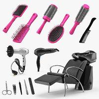 beauty salon equipment 3D model