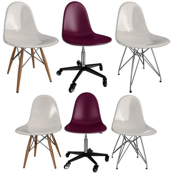 chairs eames ii 3D model