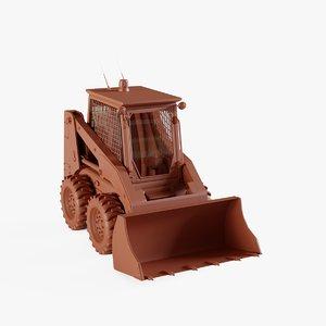 3D skid-steer loader model