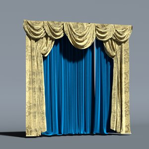 3D curtain luxury baroque