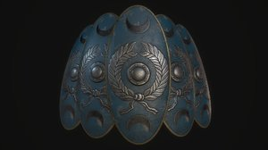 3D roman shield model