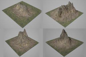 3D mountains set gaming model
