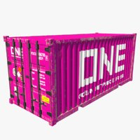 3D shipping container teu