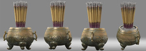 3D censer ancient china