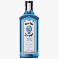3D bombay sapphire gin bottle model