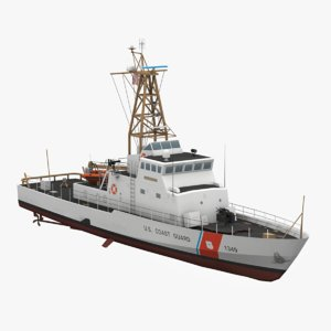 uscgc coast guard 3D model