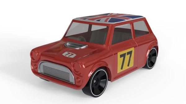 diecast mini toy car 3D model