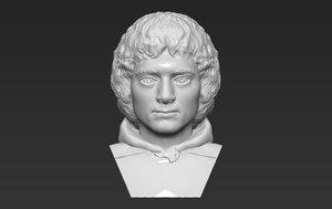 frodo baggins bust ready model