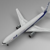 3D nippon airways boeing 777-300er