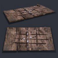 3D medieval board