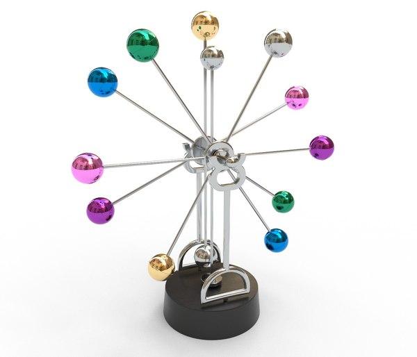 3D newton pendulum creative rotating