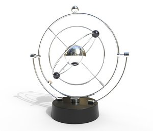 magnetic pendulum rotating eternal 3D model